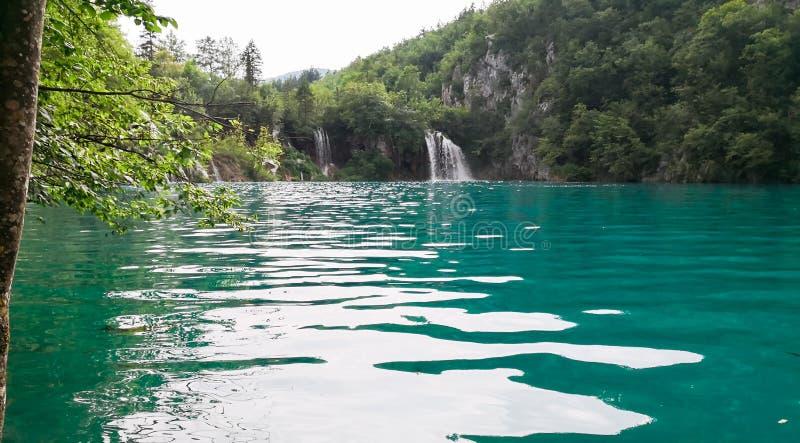 Naturliga Plitvice parkerar arkivfoton