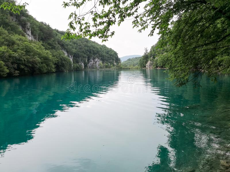 Naturliga Plitvice parkerar royaltyfri fotografi