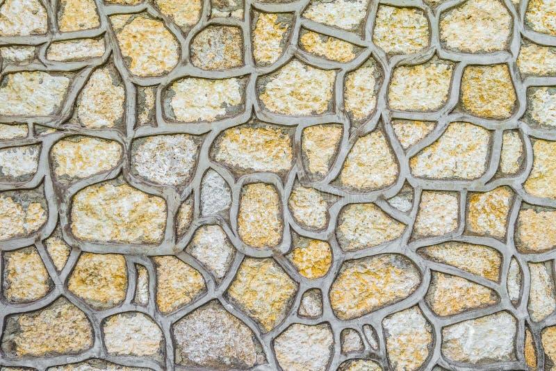 Naturliga stenar för claddingkonstruktion royaltyfri bild
