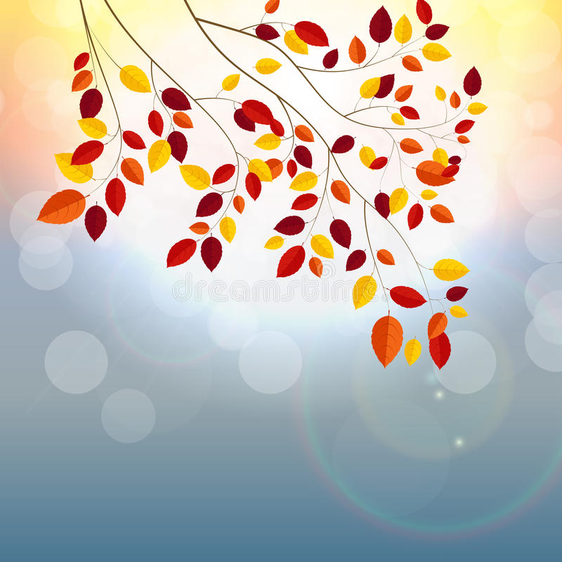 Naturliga Sunny Autumn Leaves stock illustrationer