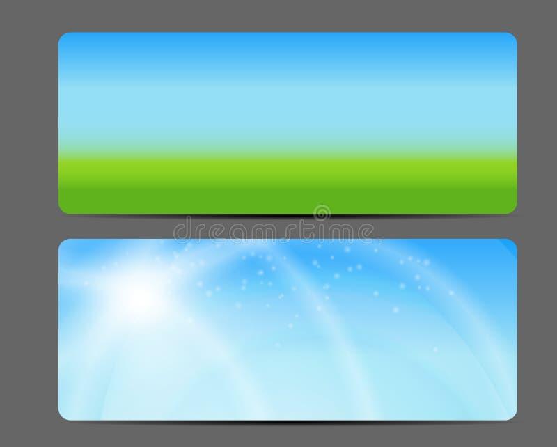 Naturliga Sunny Backgroundc Banner Vector royaltyfri illustrationer