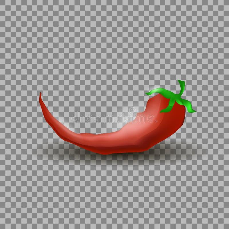 Naturliga varma röda Cayenne Chili Pepper stock illustrationer