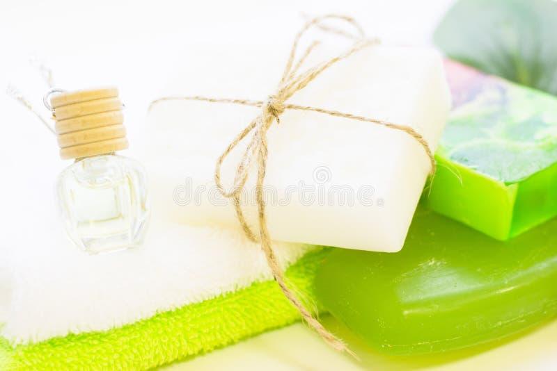 Naturligt grönt skönhetsmedelbegrepp arkivfoton
