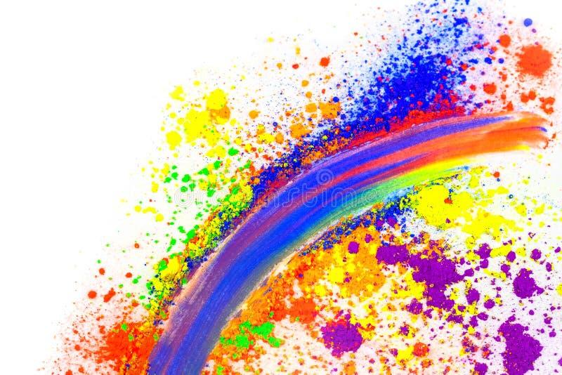 Naturligt kulört pigmentpulver arkivfoton