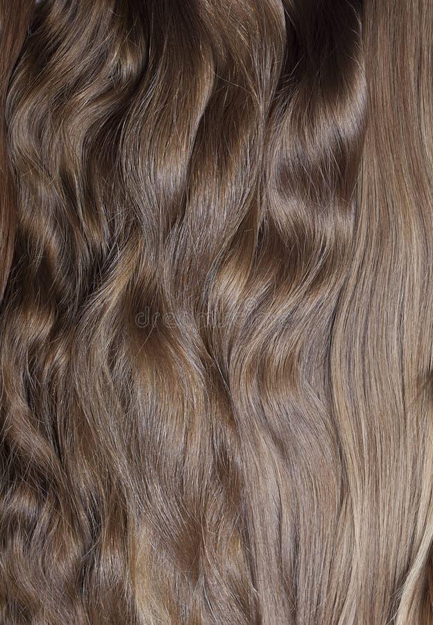 Naturligt mänskligt hår royaltyfri fotografi