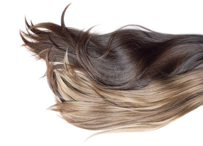 Naturligt mänskligt hår arkivbild