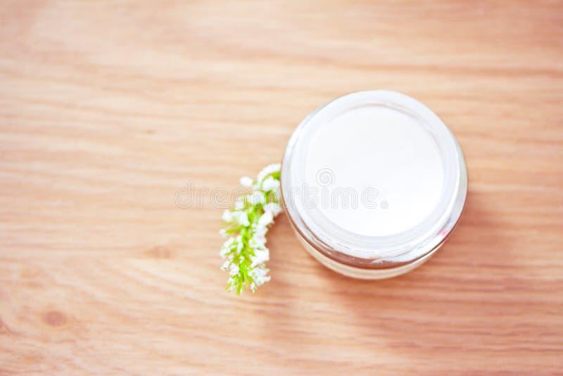 naturligt organiskt för skönhetlotionfuktighetsbevarande hudkräm arkivbilder