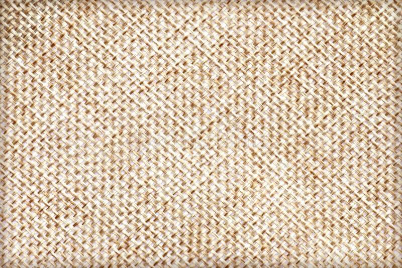 Naturligt säckvävtexturbruk för bakgrund Brun tygtexturbakgrund royaltyfri bild