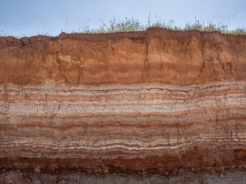 Naturligt snitt av jord arkivbilder