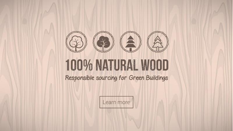 naturligt trä stock illustrationer
