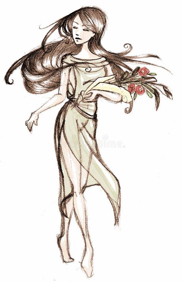 naturnymph royaltyfri illustrationer