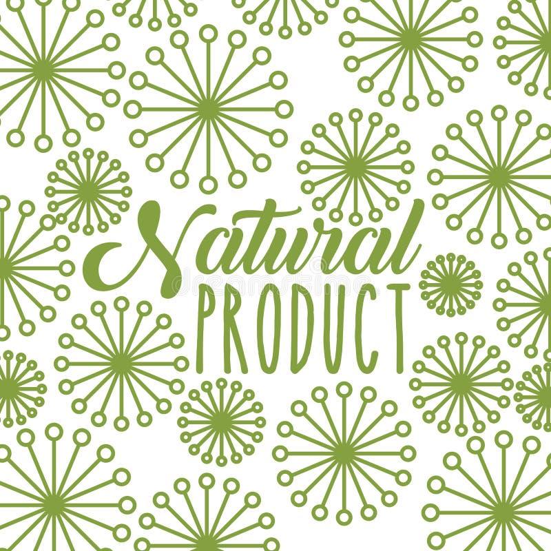 Naturproduktdesign royaltyfri illustrationer