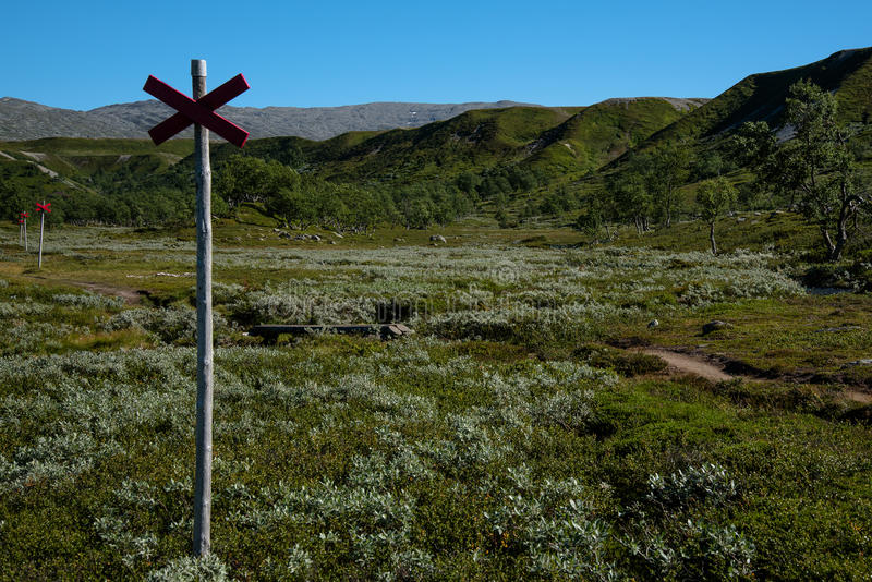 Naturreservat Valadalen in Nord-Schweden stockbild