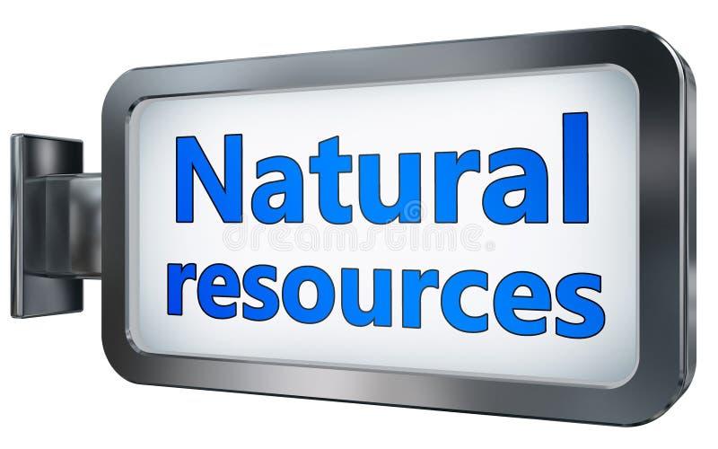 Naturresurser på affischtavlan vektor illustrationer