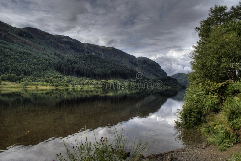 naturscotland fotgängare arkivfoton