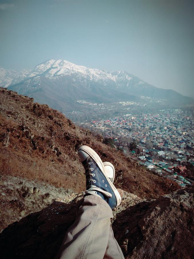 Naturskönhet från berget royaltyfria foton