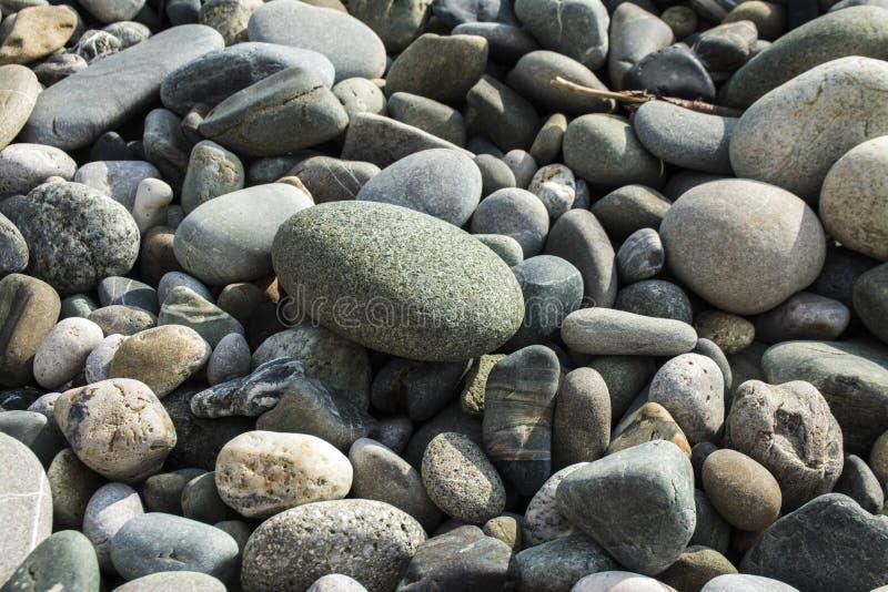 Naturstein auf Strand stockfotos