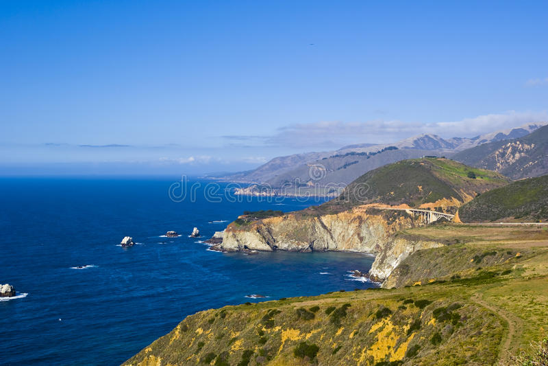 Naturszene auf Monterey-Schacht stockfoto