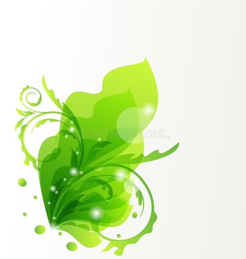 Naturtransparenter Blumenhintergrund vektor abbildung
