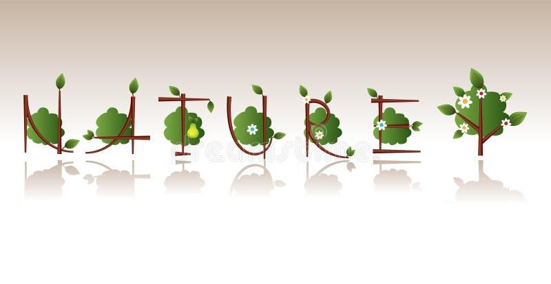 naturtrees vektor illustrationer