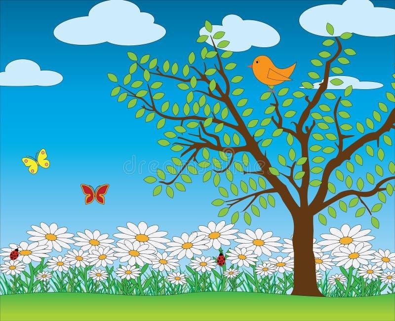 Naturvårplats royaltyfri illustrationer