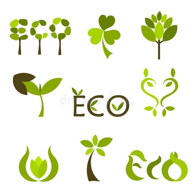 Naturvektorsymbole oder -zeichen stock abbildung