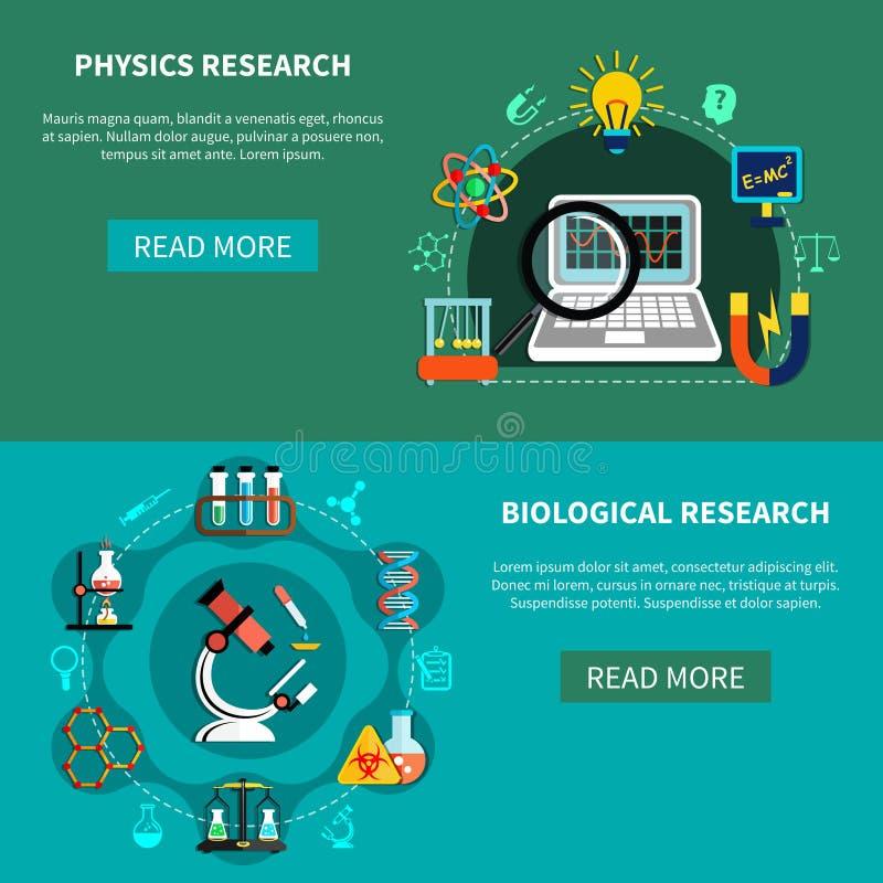 Naturvetenskapforskningar stock illustrationer