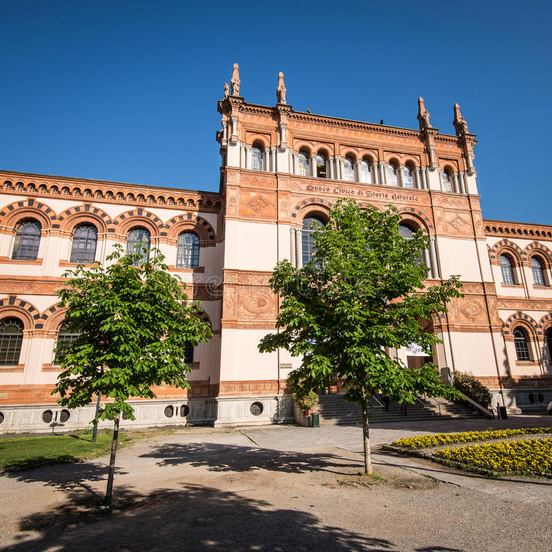Naturvetenskapmuseum Milan royaltyfri fotografi
