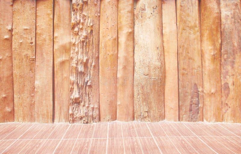 Natury brązu drewna ściany pusty tło w pionowo podłodze i wzorach obrazy royalty free