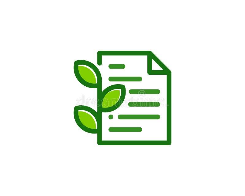 Natury Eco dokumentu ikony loga projekta element ilustracji