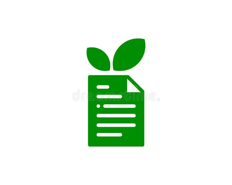 Natury Eco dokumentu ikony loga projekta element ilustracja wektor