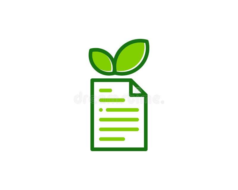 Natury Eco dokumentu ikony loga projekta element royalty ilustracja