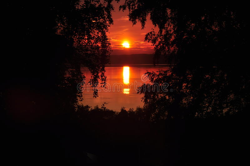 Natury galich jeziorna złota jesień zdjęcie stock