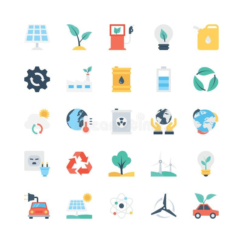Natury i ekologii Wektorowe ikony 1 ilustracji