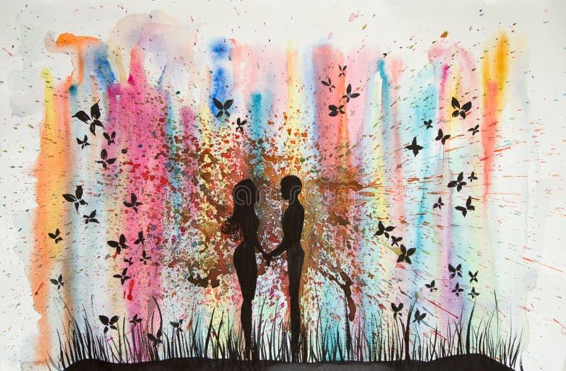 Natury miłość ilustracja wektor