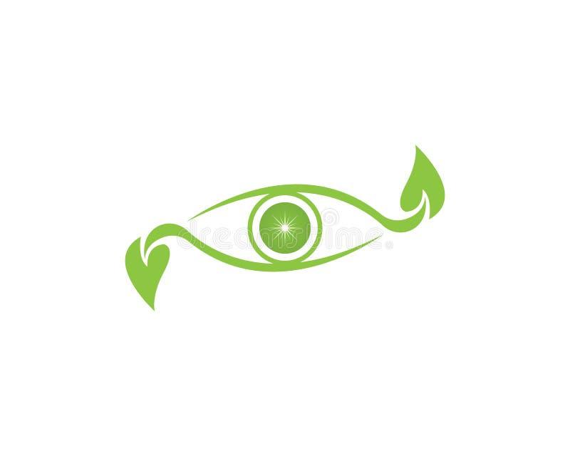 Natury oka loga projekt royalty ilustracja
