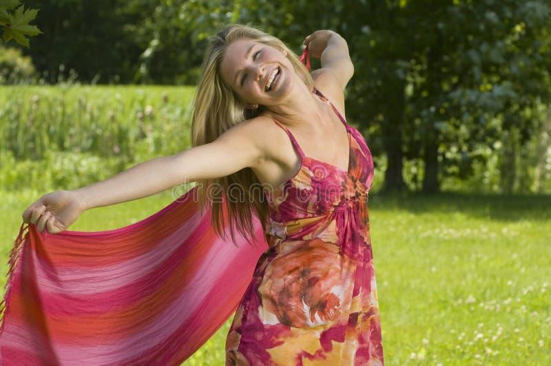 natury piękna dancingowa kobieta zdjęcia stock