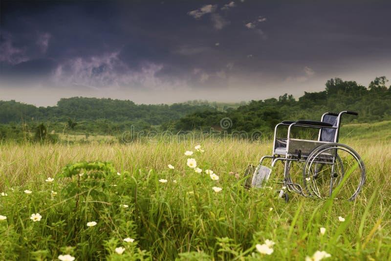 natury pusty wózek inwalidzki obrazy stock