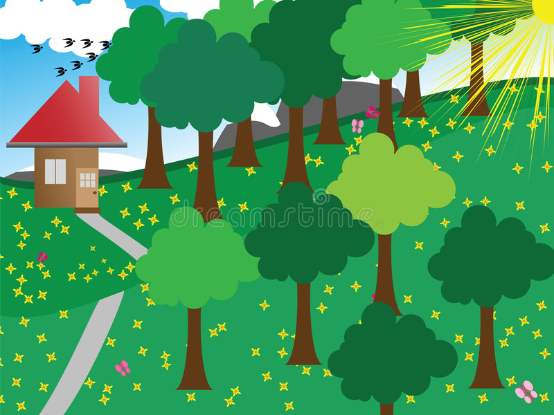 natury scena ilustracja wektor