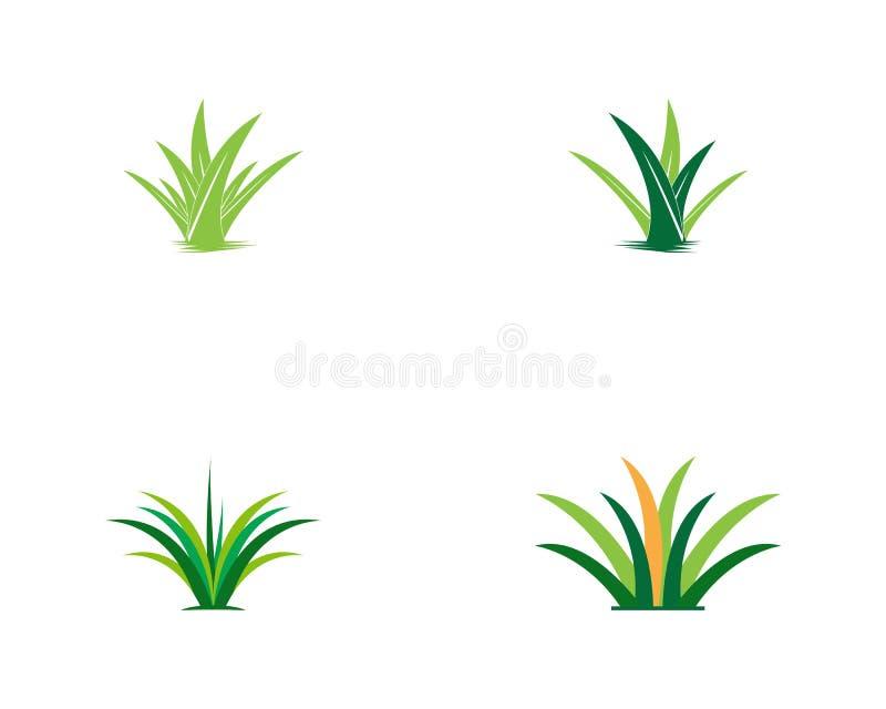Natury trawy ikony logo szablon royalty ilustracja