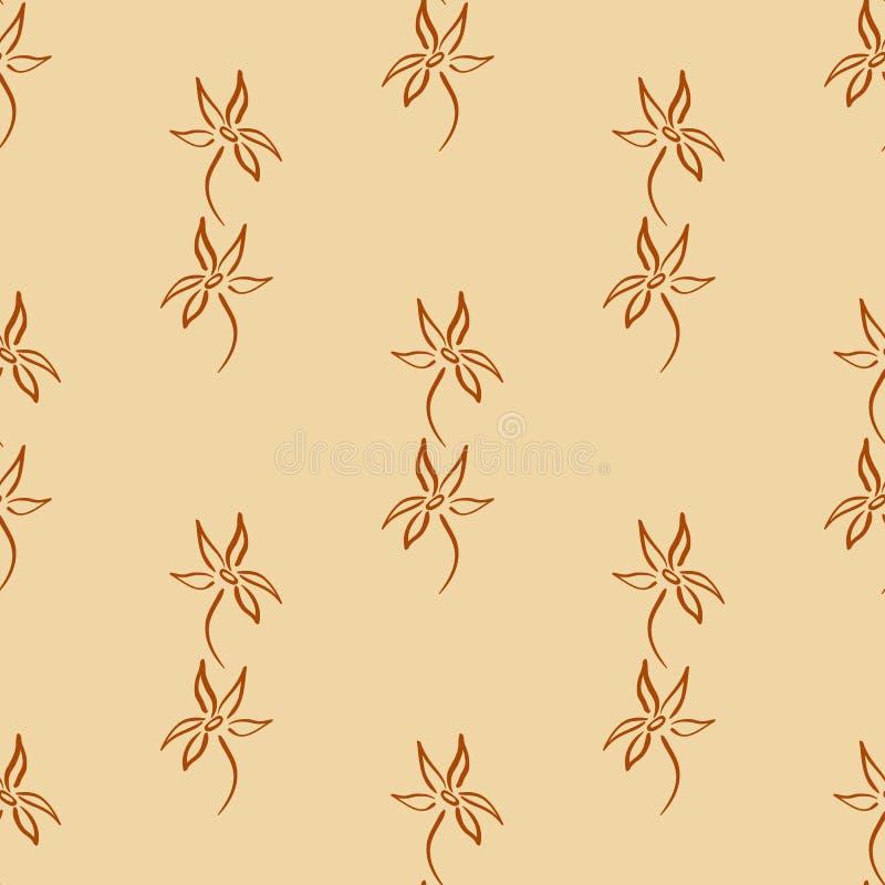 Natuurlijk abstract naadloos patroon 4 royalty-vrije illustratie