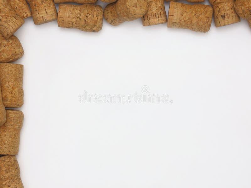 Natuurlijk Champagne of de Mousserende wijn kurken het Ontwerpen van een Witte Backgr royalty-vrije stock afbeeldingen