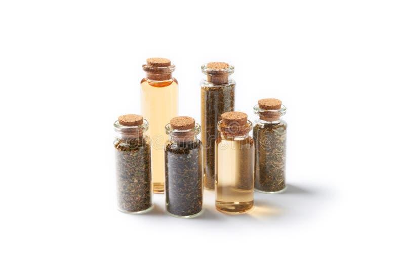 Natuurlijk geneesmiddel in glas royalty-vrije stock afbeeldingen