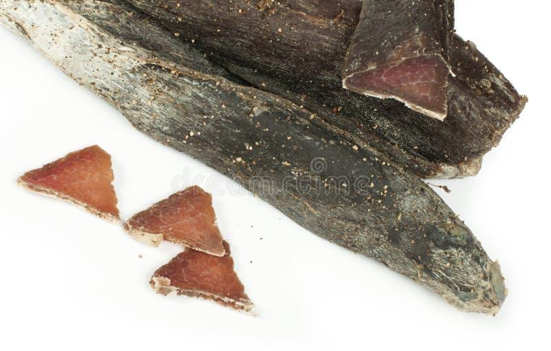 Natuurlijk kalfsvlees droog vlees royalty-vrije stock afbeelding