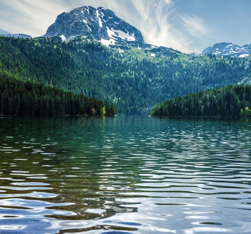 Natuurlijk landschap Bergmeer, Montenegro, nationale Durmitor stock fotografie
