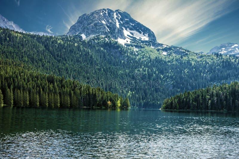 Natuurlijk landschap Bergmeer, Montenegro, nationale Durmitor royalty-vrije stock afbeeldingen