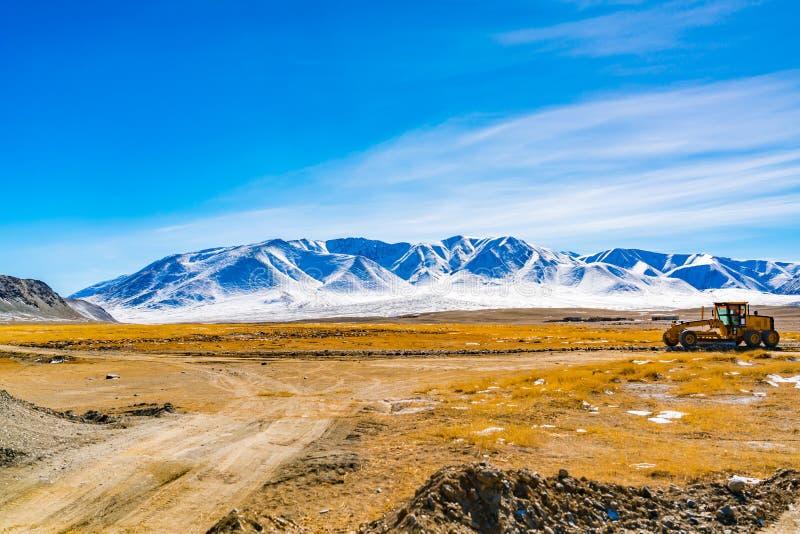Natuurlijk landschap van Mongolië royalty-vrije stock afbeeldingen