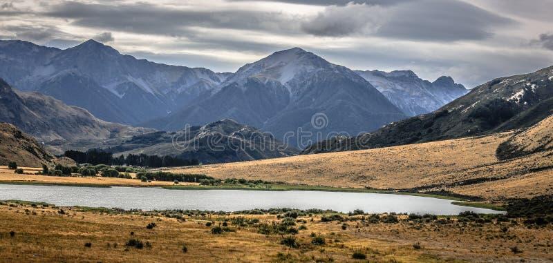 Natuurlijk Landschap van Zuideneiland, Nieuw Zeeland stock fotografie