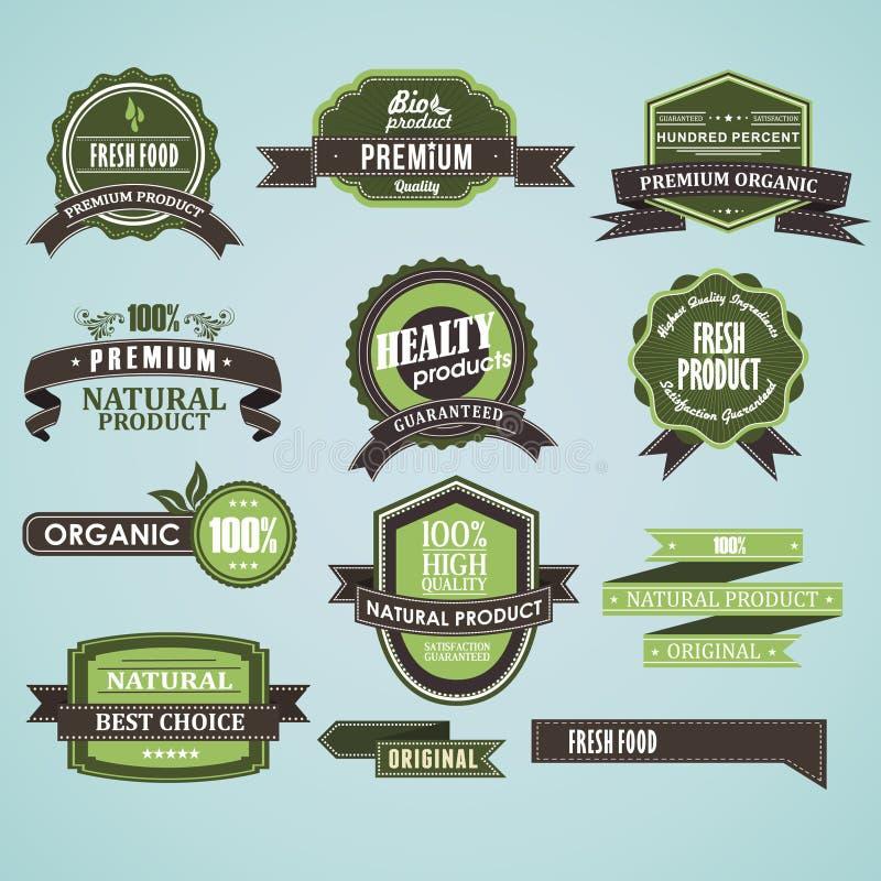 Natuurlijk organisch etiket vector illustratie