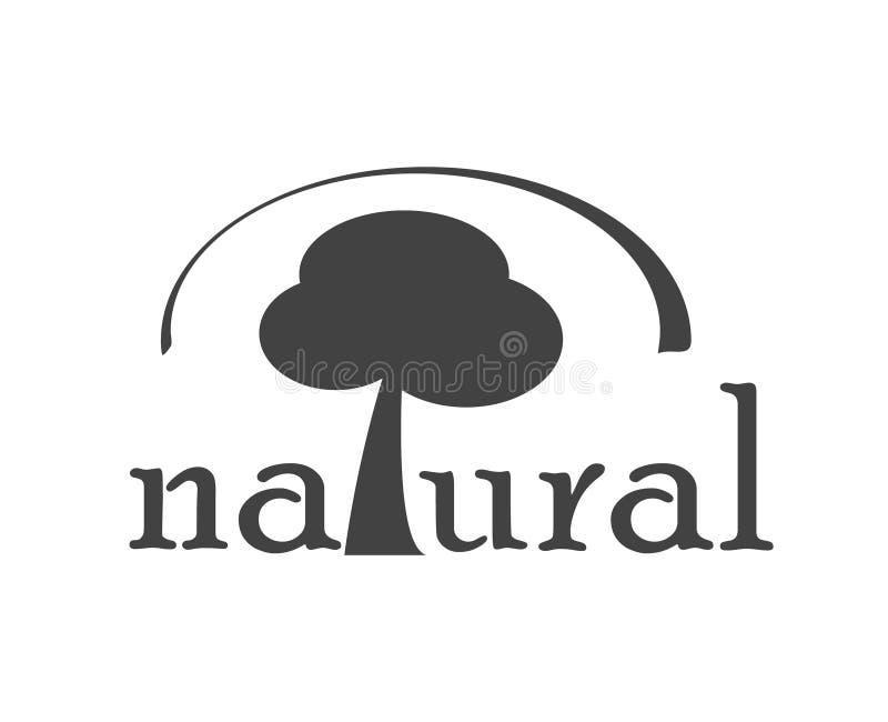 Natuurlijk teken met boom Vlak ontwerppictogram Milieu en landbouw vector illustratie